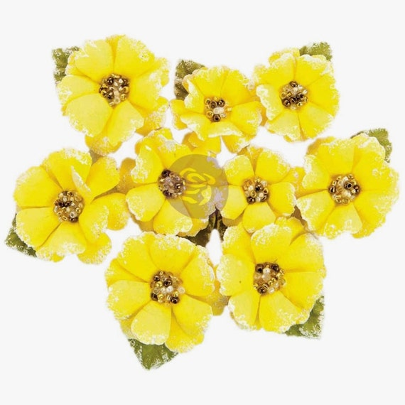 Yellow paper flowers yellow craft flowers prima flowers mightylinksfo