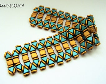 English pattern for the Princess of the Nile Bracelet