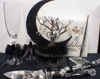 Nightmare before Christmas Wedding Cake topper Jack Sally