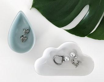 Trinket Dish - Cloud Dish - Droplet Dish - Accessories Tray