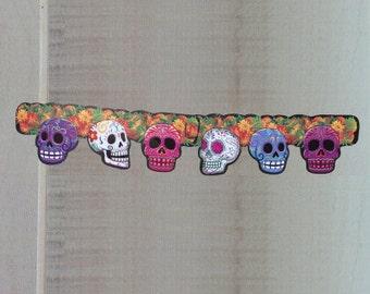 Day of the Dead Halloween Skulls Banner