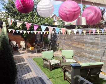 Event Bunting, 350 Feet, Flag Banner Decorations in an Eclectic Mix