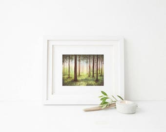 Watercolor Forest | Wall Decor | Home Decor | Wall Art | Wall Hanging | Watercolor | Painting | Nature Lover Gift | Nature Inspired | Gifts