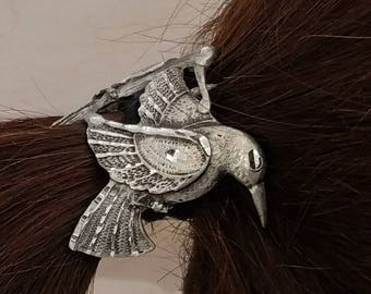 Double humming bird pony tail cover
