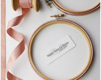 Rose Gold Pink Embroidery hoop. Coloured Embroidery Hoop. Painted Embroidery hoop. Pink Embroidery hoop. Rose Gold Craft. Rose Gold Frame
