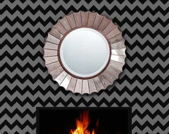 Modern Wall Stencil - DIY Chevron Stripes Painted on Accent Wall - Chevron Wallpaper Look for Less