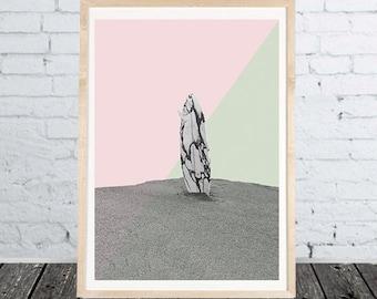 Surfboard Print Digital Download Surf Art Deco Dekor Poster Wall Livingroom