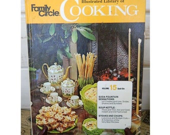 FAMILY CIRCLE Illustrated Library of COOKING -  Volume 15 - 1972 Vintage Cookbook