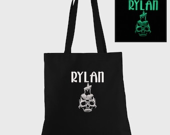 Skull Glow in the Dark Personalized Halloween Trick or Treat Bag