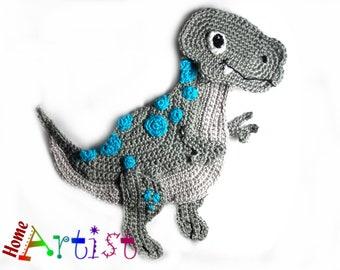 Crochet Applique Dino Dinosaur XL