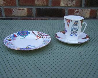 Imperial Porcelain 3 pc. Ballet Petrushka Tea Set