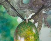 Green Dragon Egg Pendant ...