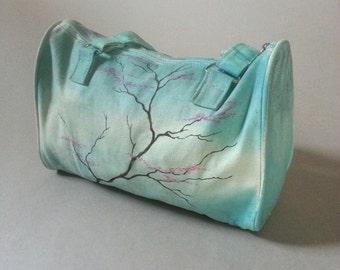 Wayward blossoms, hand-drawn handbag
