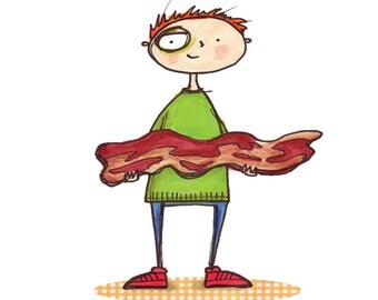 I like you more than bacon blank card
