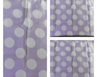 Purple Dots Charmeuse Satin Fabric 20 inches by 40 inches   Scarves Lamp Shades  Pillows SlipCovers Purses