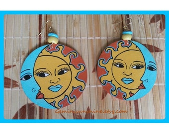 Sol Mate Hand Painted Earrings