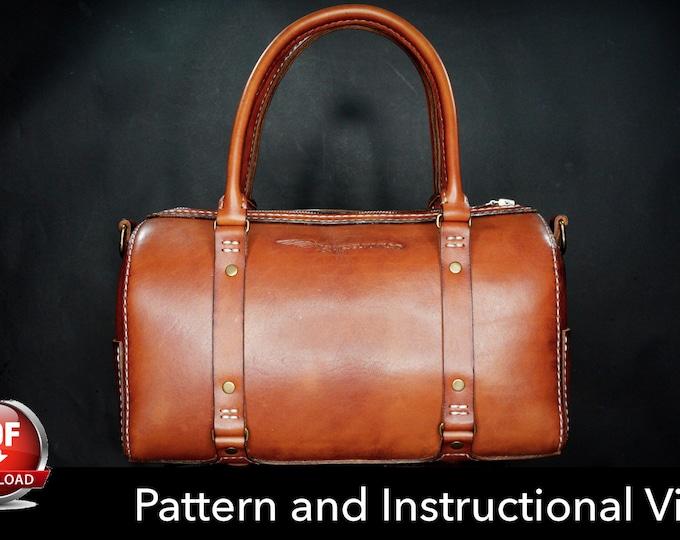 Weekender Bag Pattern - Pdf Download - Leather Pattern - Overnight bag Template - Leather Bag Pattern - Bag Template - carry on Bag