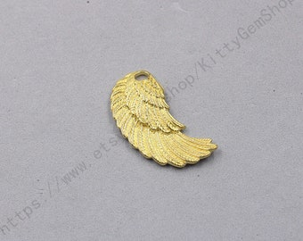 1Pcs, 45mm Raw Brass Wing Pendants Charms Wholesale Handmade Craft Supplies TXWJ-2
