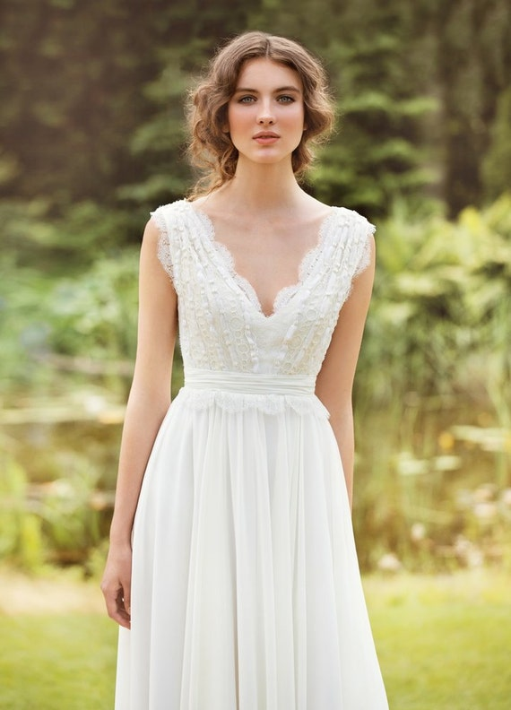 designer wedding dress bohemian wedding dress made from