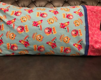 Shopkins pillowcase/standard size pillow