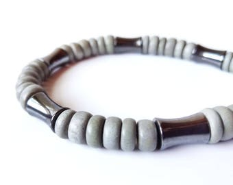 Tribal men's bracelet - wood bracelet for men - Thunderstorm