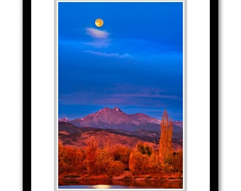Golden Moonset -- by James Ribniker -- Framed Giclee on paper