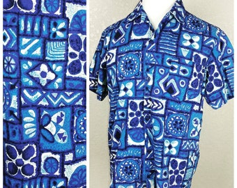 Vintage Hoaloha Hawaiian Tiki Shirt