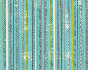 Moda - Garden Project by Tim and Beck Stitched Stripe in Sky 39554-15
