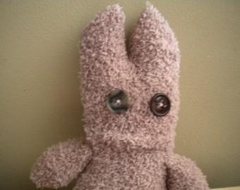 sock monster fluffy rose pink