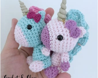Unicorn Keychain ~ Amigurumi ~ Crochet Unicorn ~ Unicorn ~ Keychain ~ Miniature Unicorn