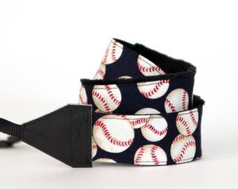 DSLR Camera Strap - Baseball Mom - Baseball Gifts - Padded Camera Strap - Nikon Camera Strap -  Canon - Sony - Baseball - READY to SHIP