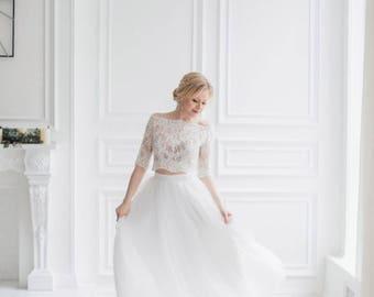 Long Tulle skirt MilaBridal, bridal separates, Bridesmaids long tulle skirt