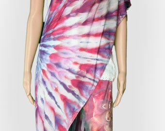 Purple and Pink Infinity Scarf-Tie Dye Scarf-Nursing Cover