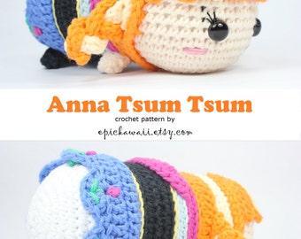 PATTERN: Anna Tsum Tsum Crochet Amigurumi Doll