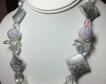 Crystal, Pearl and Swarovski Multi Media Necklace