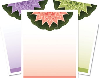 Poster Blank - Floating Lotus - Printable Digital Sheet ready for your custom text - includes 3 lovely colours