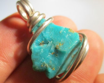 Gem Silica Pendant / Chrysocolla Chalcedony / Gem Silica Necklace / DIVINE Feminine Goddess / Healing Physical Body / Soothing Emotions