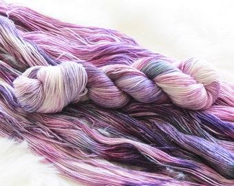 Dusk in the Desert Hand Dyed Fingering Weight Yarn for Knitting and Crochet