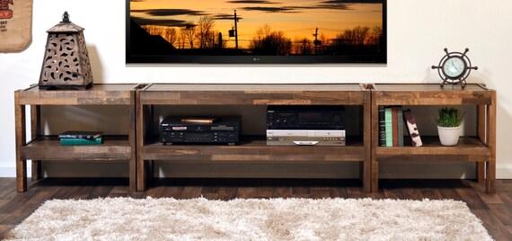 meuble tv bois bois de palettes grange bois style entertainment center presearth spice de rcupration - Meuble Tv Bois De Grange