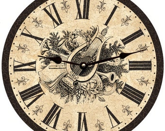 Large Toile Clock- French Toile Wall Clock