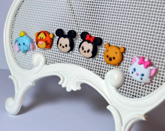 Cute Disney Tsum Tsum Pins * Mickey Minnie Mouse Winnie the Pooh Tigger Marie Aristocats Dumbo