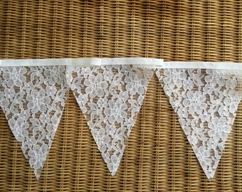 White Lace Wedding / Christening / Party Bunting