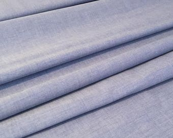 Blue Chambray Fabric, Shirting Fabric - By the Half Metre