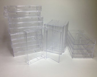 Cassette Tape Covers, Clear, Brand New (10)