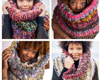 Custom Design Knit Scarf Cowl - 2nd Tier