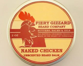 Beard Balm Fragrance Free - Beard Conditioner - Beard Grooming balm with Moisturizing Argan Oil, Mango and Essential Oils - All Natural