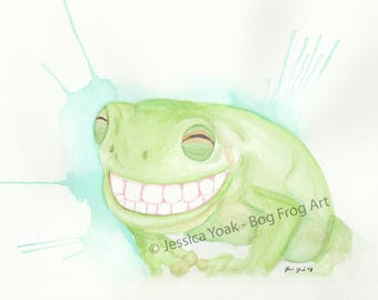 Smile Watercolor Painting