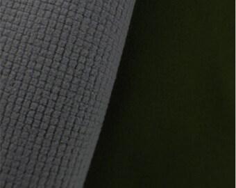Soft Shell Grid Fleece Crocodile Green/Gray, Fabric By The Yard