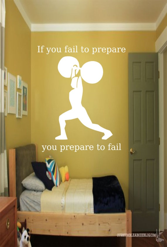 If you fail to prepare you prepare to fail Weight Lifting Wall