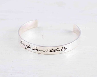 Adjustable Signature Bangle - Actual Handwriting Bangle - Memorial Bangle - Personalized Jewelry - Bridesmaid Gifts